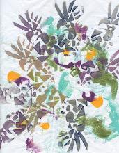 Photo: 3/18/12 Purple pineapples. Foam print on deli paper.