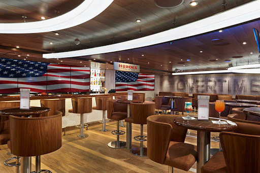 Break out the red, white and blue! Lift a toast to our veterans in the Heroes Tribute Bar — a Carnival Panorama first.