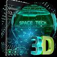 3D space tech theme icon
