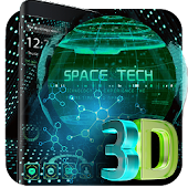 3D earth space tech theme
