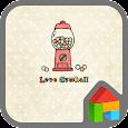 Love Gumballs dodol theme icon