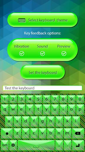 彩色鍵盤霓虹綠