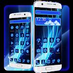 Neon Blue Tech Icon