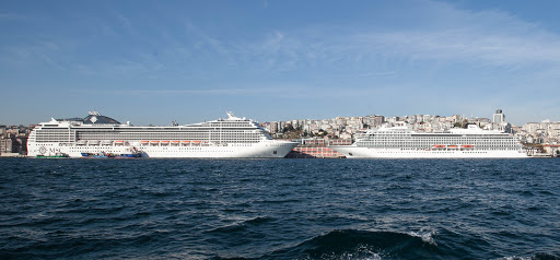 MSC-Poesia-&-Viking-Star-faceoff-in-Istanbul.jpg - MSC Poesia and the smaller Viking Star face off when docked in Istanbul.