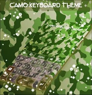Téma klávesnice Camo - náhled