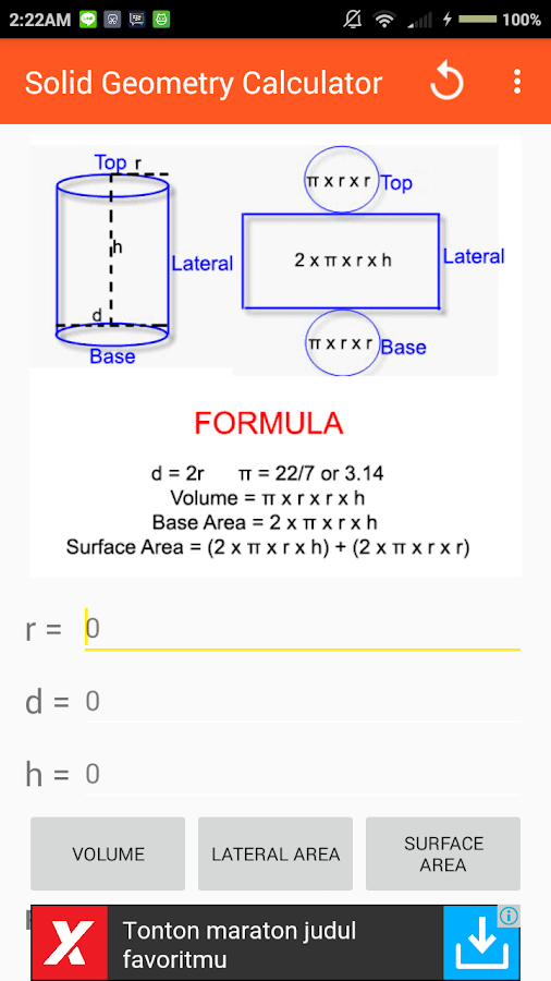 Solid geometry calculator android apps on google play solid geometry calculator screenshot ccuart Choice Image