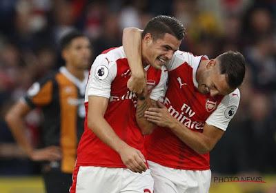 Granit Xhaka scoort op heerlijke wijze voor Arsenal op het veld van Hull City