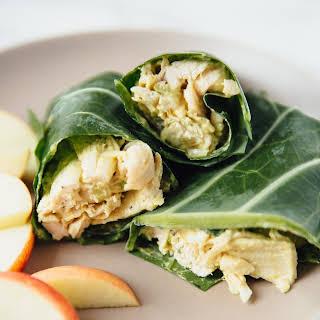 Collard Green Chicken Salad Wraps.