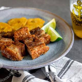Chicharrón de Cerdo Recipe (Dominican Pork Crackling).