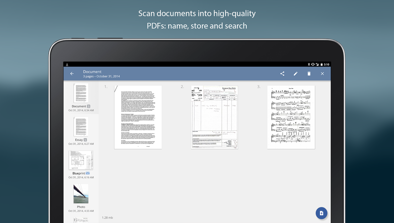 TurboScan: scan documents & receipts in PDF- screenshot