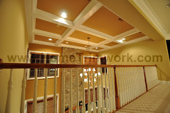 Photo: (After) Coffered ceiling,  Wall and ceiling paint,  Toll Brothers home in Byers Station, Chester Springs,