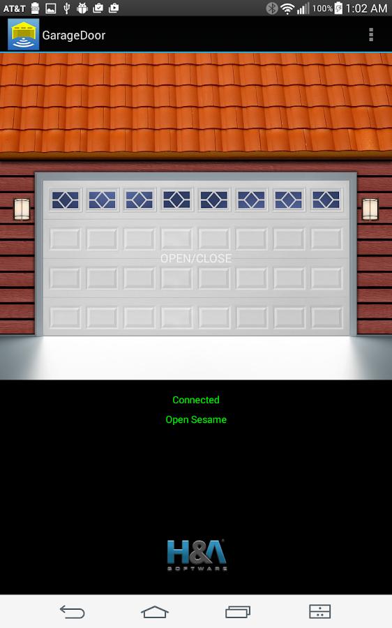 Garage door remote open sesame android apps on google play for App to open garage door