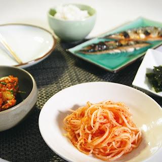 Cucumber Kimchi and Radish Pickle