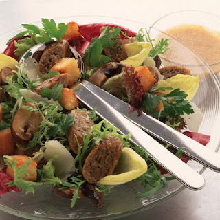 Warm Vegetarian Mushroom Salad Recipe