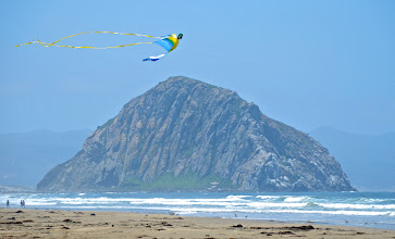 Photo: 200. During my last full day of this trip, on my drive southward, I stopped off in Morro Bay for a couple hours of walking around. Here's Morro Rock, as seen from a beach just north of town. It's an ancient volcanic peak.
