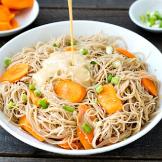 Rice Noodles with Peanut Sauce.