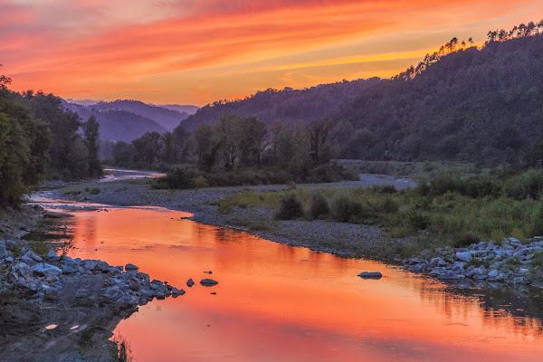 Il fiume al tramonto di mirella_cozzani