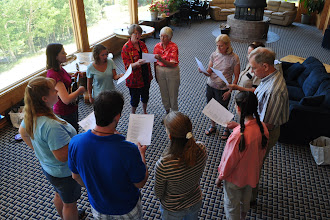 Photo: Group singing workshop with Grace Rolland