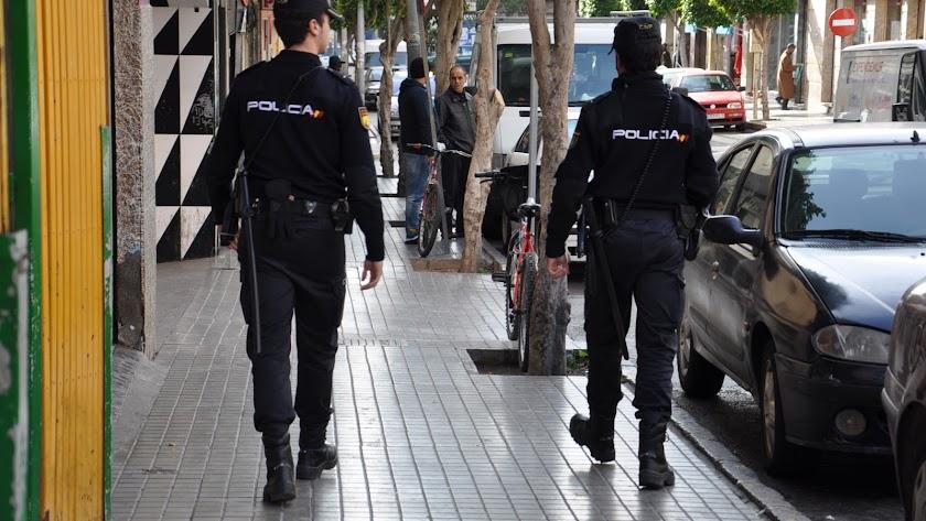Policía Nacional en El Ejido
