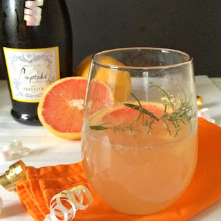Grapefruit Prosecco Birthday Cocktail.