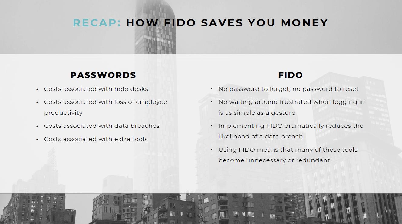 How FIDO saves you money