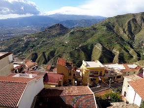 Photo: Looking south toward Etna from Castello, Castelmola