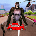Angry Gorilla City Battle: Dinosaur Survival icon