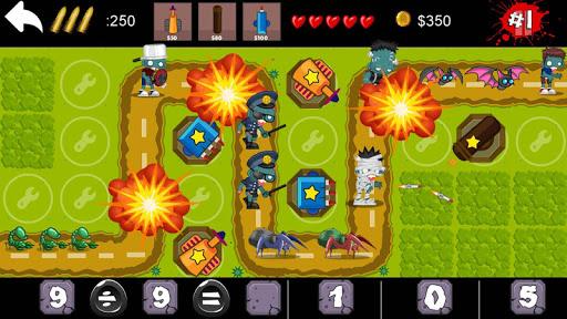玩免費策略APP|下載殭屍突襲:數學塔防大作戰 Tower Defense app不用錢|硬是要APP