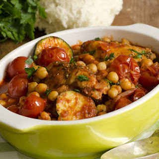 Slow Cooker Moroccan Chicken with Chickpeas