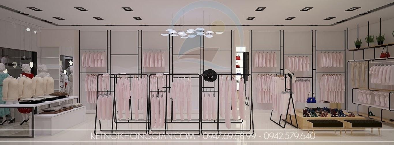 thiết kế shop thời trang nữ thoáng đãng