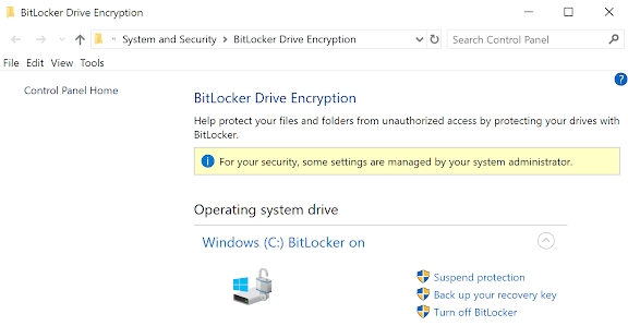 Turn off BitLocker