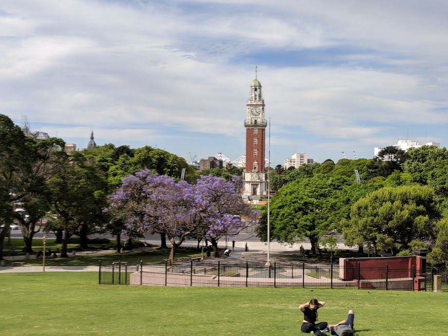 Torre Monumental seen from Plaza San Martin