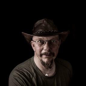 Cowboy by Annelie Hallberg - People Portraits of Men