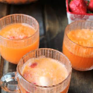 3 Ingredient Strawberry Orange Creamsicle Punch.