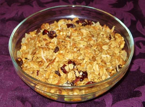 This Batch Had Dried Cranberries And Raisins.  You Can Put Any Sweet Dried Fruit In This Recipe. I Also Used Walnuts.