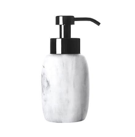 Rock tvålpump - vit/grå