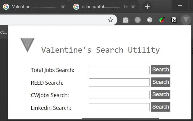 Valentine's Search Utility