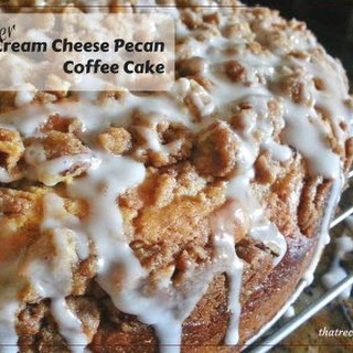 Lighter Pecan Cream Cheese Coffee Cake.