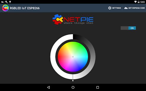 RGBLED IoT ESP8266 with NETPIE- screenshot thumbnail