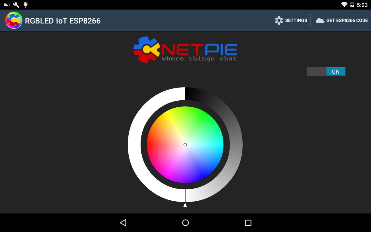 RGBLED IoT ESP8266 with NETPIE- screenshot