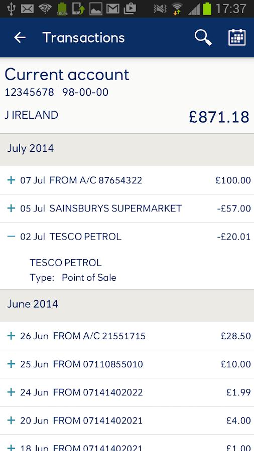 Ulster Bank NI- screenshot