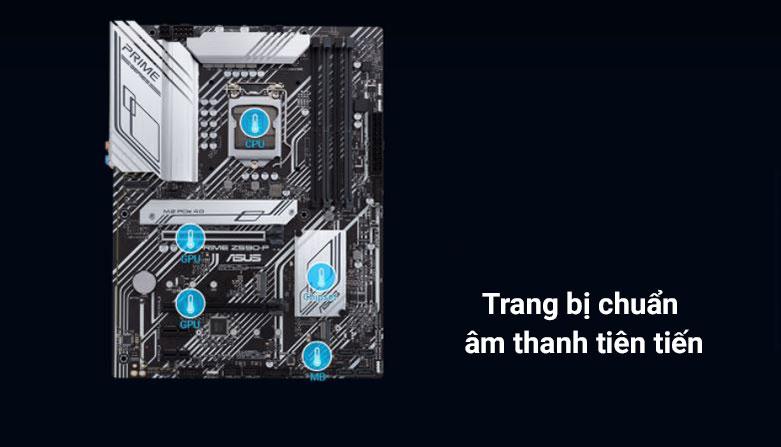 Bo mạch chính/ Mainboard ASUS PRIME Z590-P/CSM | Trang bị chuẩn âm thanh tiên tiến