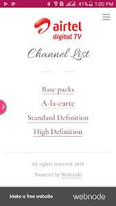 Download Airtel Digital TV Channel List APK latest version app for