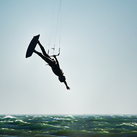 Kite Boarding Iinvert by Robin Amaral - Sports & Fitness Watersports ( kite board, waves, inversion, wetsuit, ocean, athlete, healthy, watersports, harness, extreme sports, lifestyle )