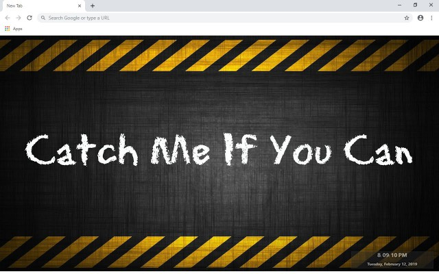 Catch Me If You Can New Tab Theme