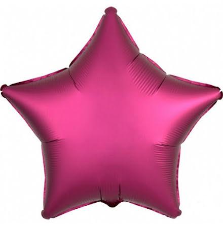 Folieballong Satinstjärna granatäpple, 48 cm