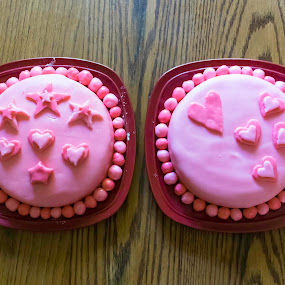 Fondant Cakes by Nicole Mitchell - Food & Drink Cooking & Baking ( cake, hearts, fondant, stars, pink )