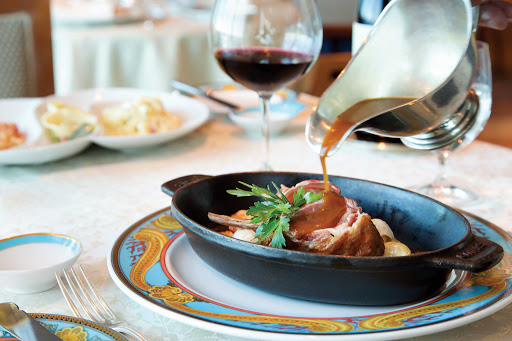Oceania-Toscana.jpg - A dinner entrée at the fine-dining Italian restaurant Toscana on Oceania Cruises.