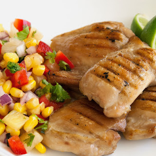 Grilled Chicken with a Capsicum and Pineapple Salsa Recipe