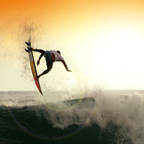 Vertical Horizon by Alit  Apriyana - Sports & Fitness Surfing ( oakley, bali, surfer, sunset, keramas )